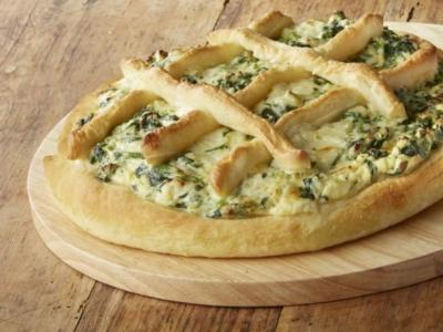 Ricottapizza med spenat och mozzarella - Galbani