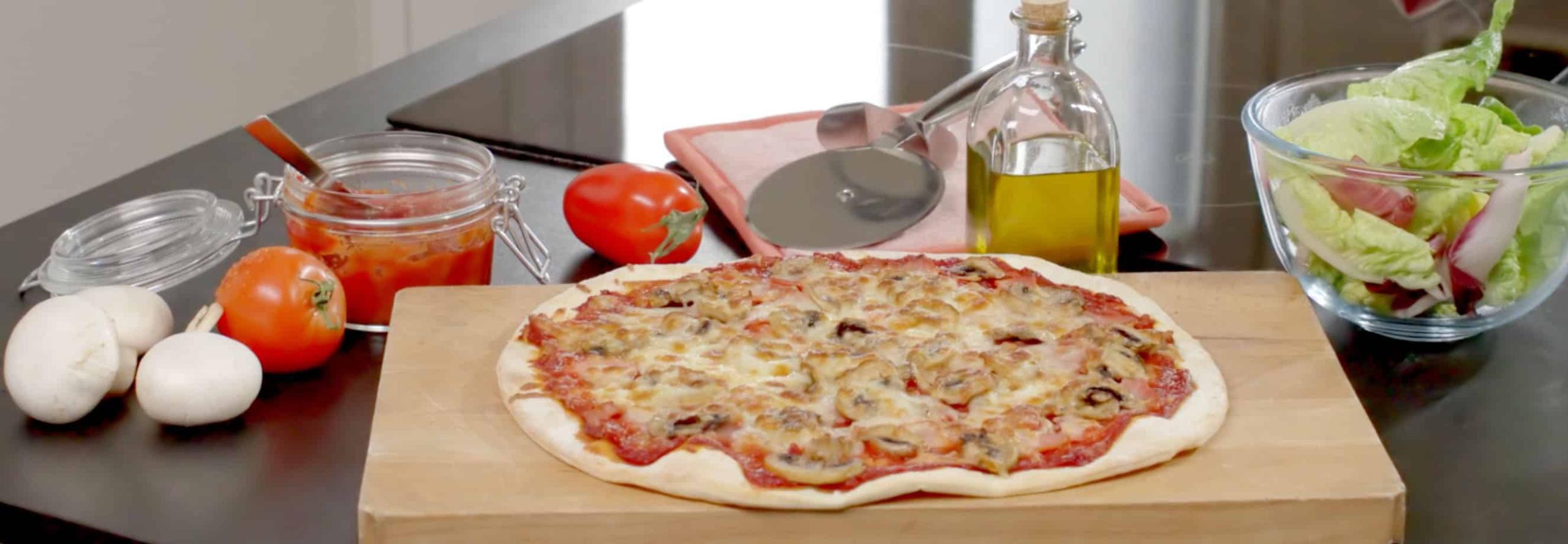Drottningpizza med mozzarella - Galbani