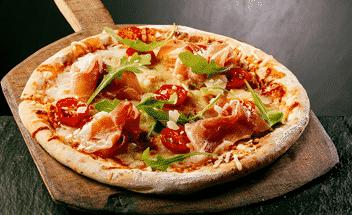 Pizza med parmaskinka - Galbani