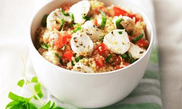 Quinoasallad med mozzarella - Galbani