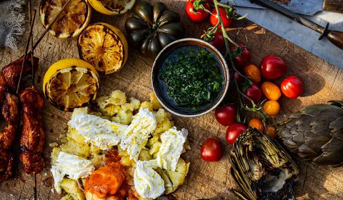 Grillade grönsaker och kyckling med Galbani mozzarella - Galbani